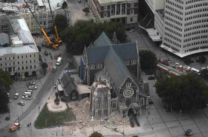 Christchurch après le séisme de février 2011