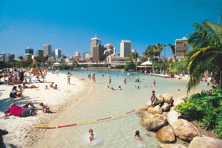 Plage artificielle à South Bank, Brisbane