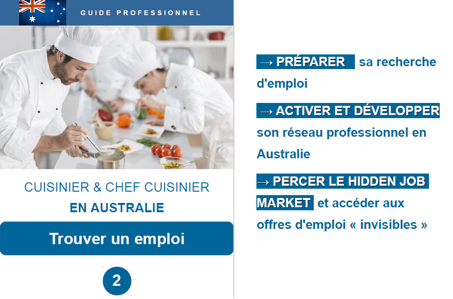Cuisinier et chef cuisinier en australie guide for Job cuisinier