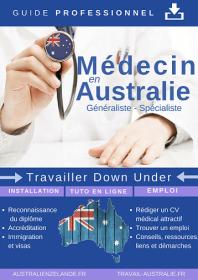 Médecin en Australie guide couverture plate