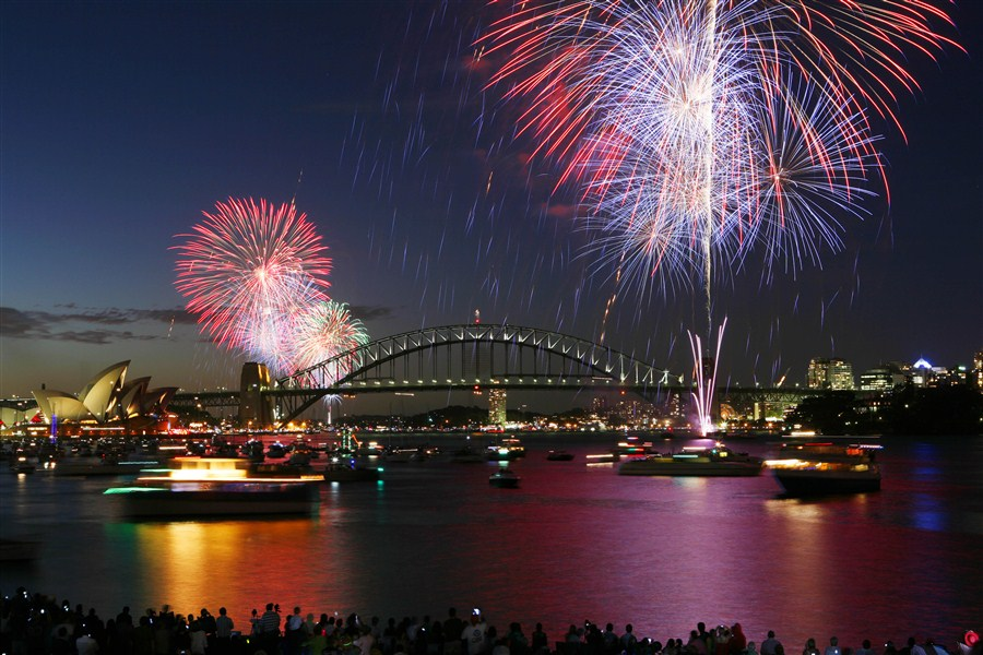 Feux d'artifice à Sydney : nouvel an 2013